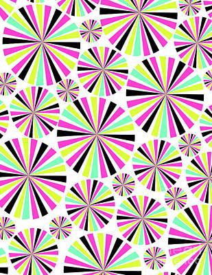 Circle Digital Art - Circles by Louisa Knight