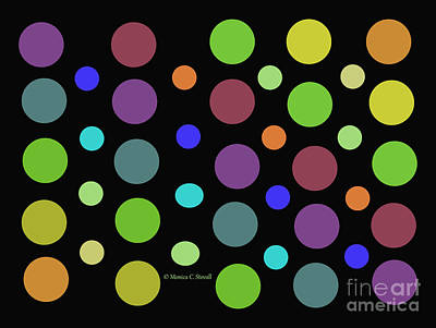 Digital Art - Circles N Dots C21 by Monica C Stovall