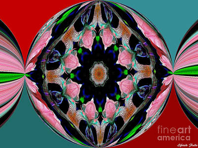 Mixed Media - Circles Of Color by Elfriede Fulda