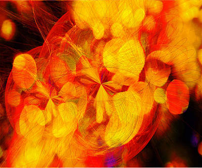 Digital Art - Fractals Bokeh And Spirographs   by Fine Art By Andrew David