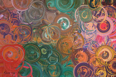 Digital Art - Circles  by Riana Van Staden