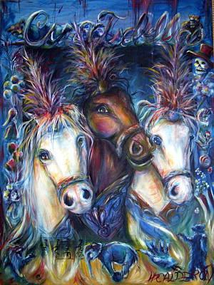 Popcorn Painting - Circo Isabella by Heather Calderon