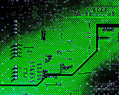 Photograph - Circuit Board Background by Olivier Le Queinec