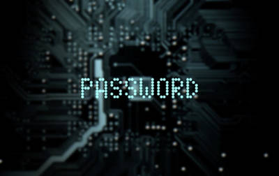 Circuit Board Projecting Password Art Print