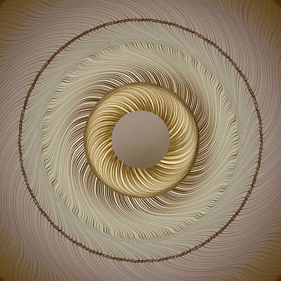 Op Art Photograph - Circular Abastract Art 5 by Eleanor Bortnick