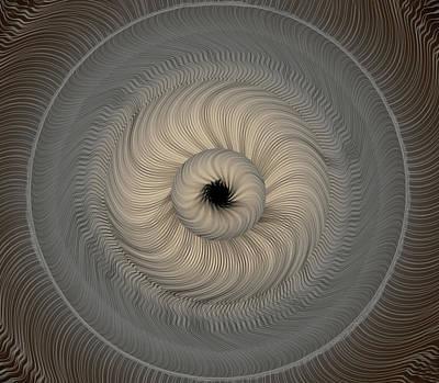 Op Art Photograph - Circular Abstract Art 2 by Eleanor Bortnick