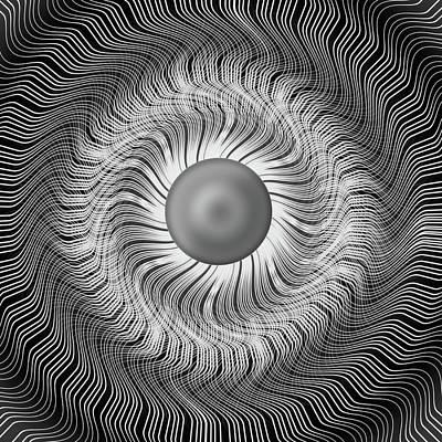 Op Art Photograph - Circular Abstract Art 5 by Eleanor Bortnick