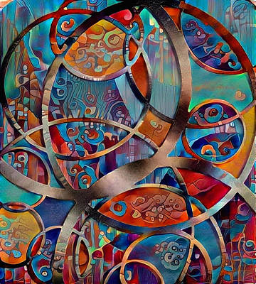 Digital Art - Circular Abstract Composition by Bruce Rolff