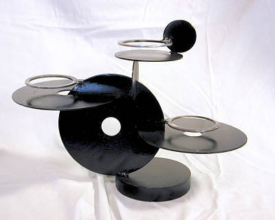 Sculpture - Circular Candle Holder by John Gibbs