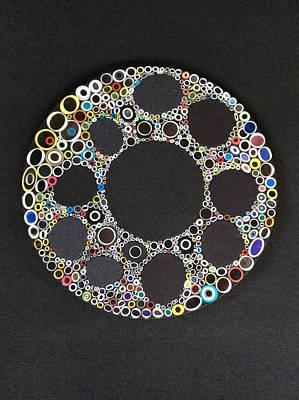 Circular Convergence Of Mutated Molecules Art Print