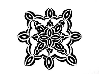 Abstract Design Drawing - Circular Design 2 by Beth Akerman