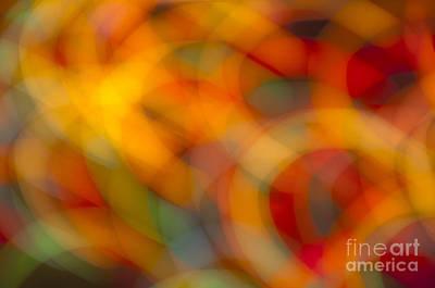 Photograph - Circular Flow Christmas Abstract by Glenn Gordon