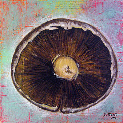 Painting - Circular Food - Mushroom by Janelle Schneider