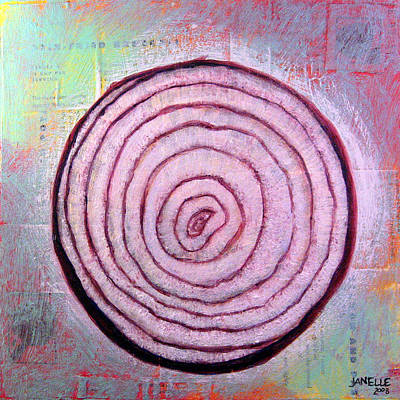Painting - Circular Food - Onion by Janelle Schneider
