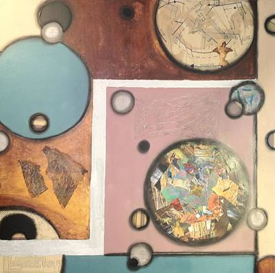 Mixed Media - Circular Motion II by Windy Savarese