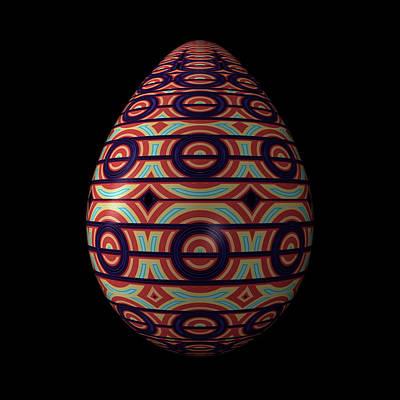 Circular Ornament Egg Art Print