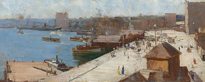 Australian Landscape Painting - Circular Quay by Arthur Streeton