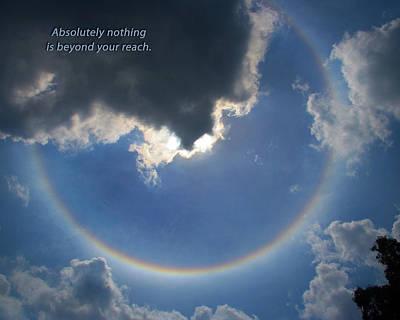 Photograph - Circular Rainbow Inspiration by David Coblitz