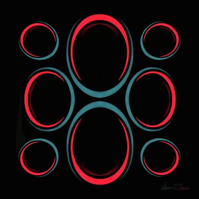 Mixed Media - Circular Reflections 2 by Robert J Sadler