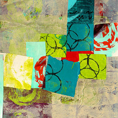 Painting - Circular Squares by Nancy Merkle