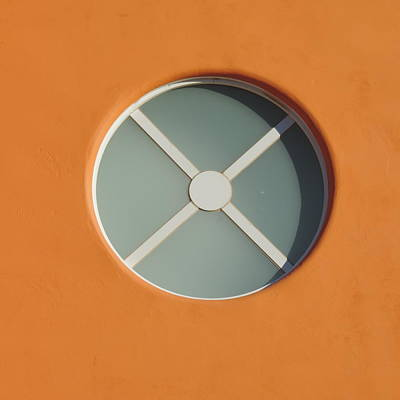 Photograph - Circular Window In Orange by Bill Tomsa