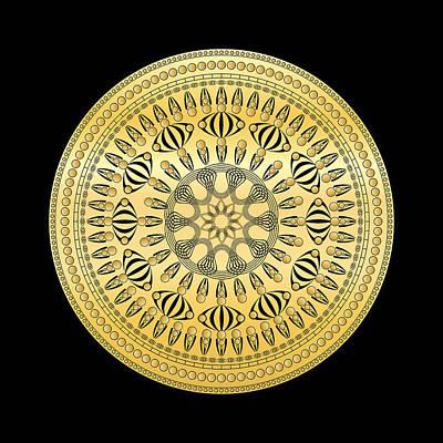Digital Art - Circularity No 1609 by Alan Bennington