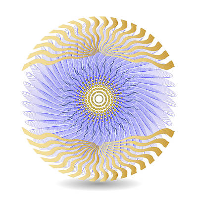 Digital Art - Circularity No 1627 by Alan Bennington