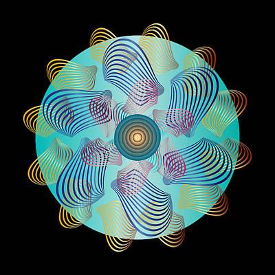 Digital Art - Circularity No 1632 by Alan Bennington