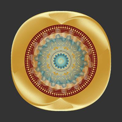 Digital Art - Circularity No 1642 by Alan Bennington