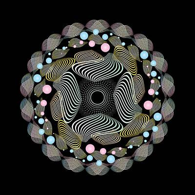 Digital Art - Circularity No 1644 by Alan Bennington