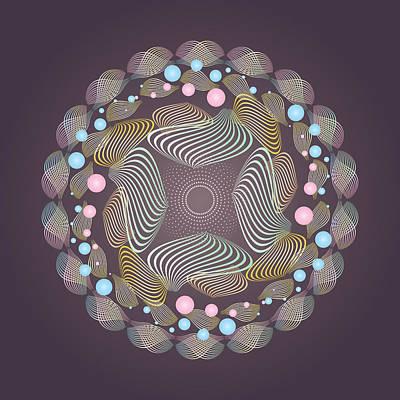 Digital Art - Circularity No 1645 by Alan Bennington
