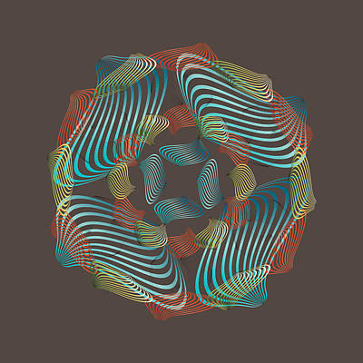 Digital Art - Circularity No 1646 by Alan Bennington