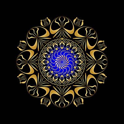 Digital Art - Circularity No 1651 by Alan Bennington