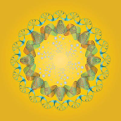 Digital Art - Circularity No 1660 by Alan Bennington