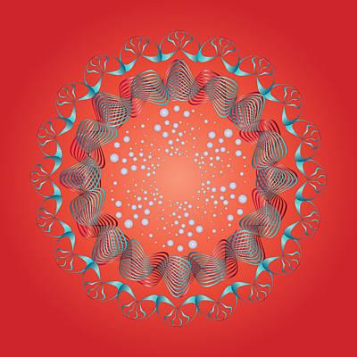 Digital Art - Circularity No 1661 by Alan Bennington