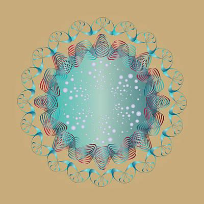 Digital Art - Circularity No 1663 by Alan Bennington