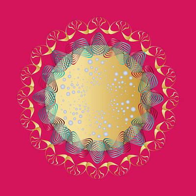 Digital Art - Circularity No 1665 by Alan Bennington
