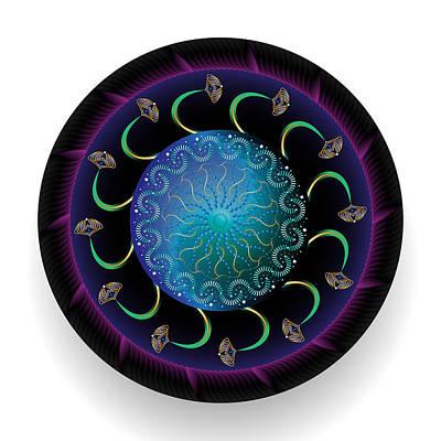 Digital Art - Circularium No 2687 by Alan Bennington