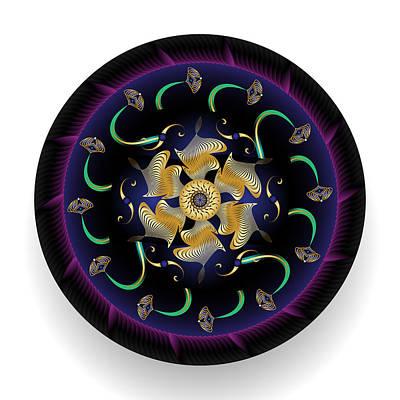 Digital Art - Circularium No 2693 by Alan Bennington