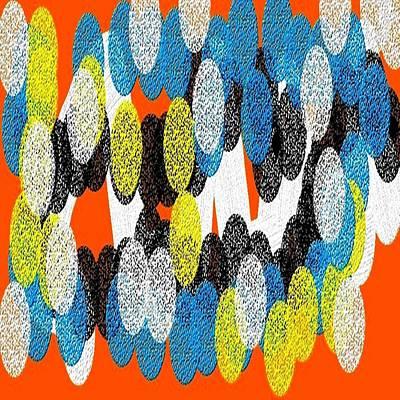 Eliso Digital Art - Circulos Multicolor by Eliso Silva