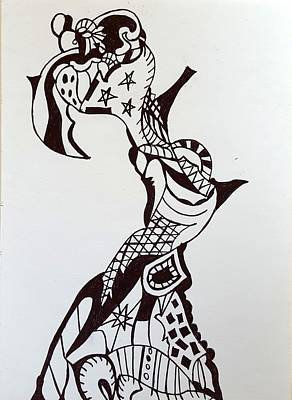 Drawing - Circus 3 by Steven Stutz