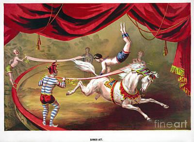 Photograph - Circus Acrobat, C1875.  by Granger