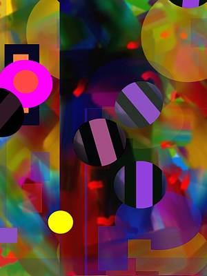 Digital Art - Circus Balls by Lynda Lehmann