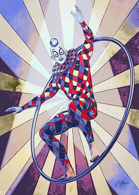 Buy Fine Art Online Digital Art - Circus Boy  by Joaquin Abella Ojeda