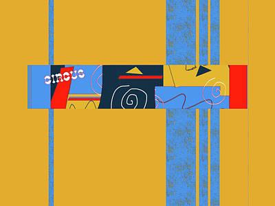 Digital Art - Circus Buddies 5 by Janis Kirstein