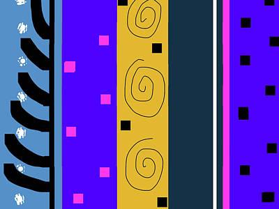 Digital Art - Circus Buddies Companion Print 2 by Janis Kirstein