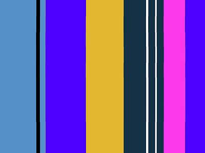 Digital Art - Circus Buddies Stripes 1 by Janis Kirstein
