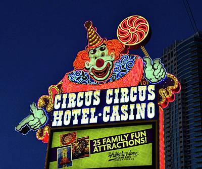 Photograph - Circus Circus Sign Las Vegas by David Lee Thompson