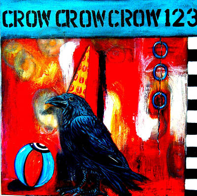 Hargrove Painting - Circus Clown Crow by Susan Hargrove