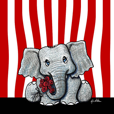 Ebsq Drawing - Circus Elephant by Kim Niles